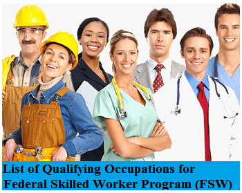 Qualifying Occupations for the Federal Skilled Worker Program