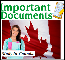 Documents required when studying in Canada