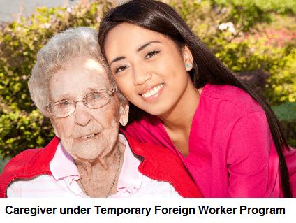 Caregiver under the Temporary Foreign Worker Program
