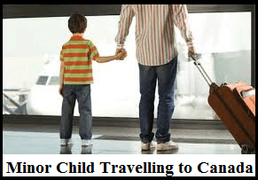 Minor Child Travelling to Canada