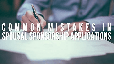 Common Mistakes on Spousal Sponsorship Applications