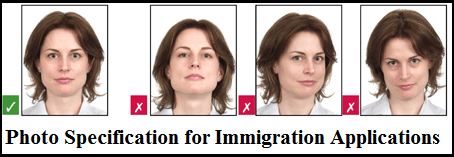 Photo Specification for Immigration Applications