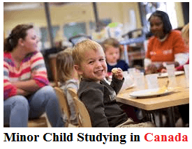 Minor Child Studying in Canada