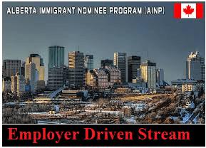 Alberta Immigrant Nominee Program Employer Driven Stream