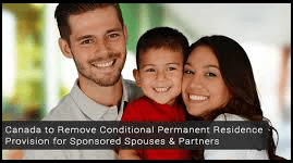 Conditional Permanent Residence for Spouses and Partners Removed