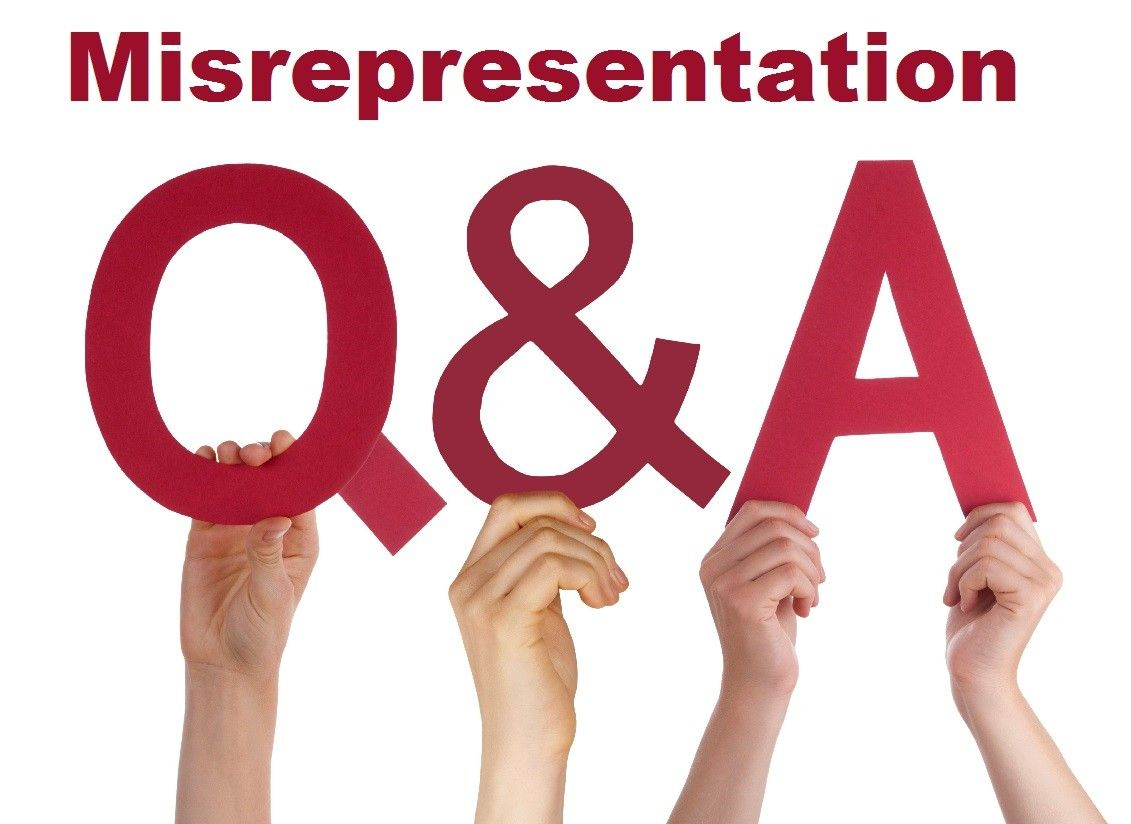 Misrepresentation Questions and Answers