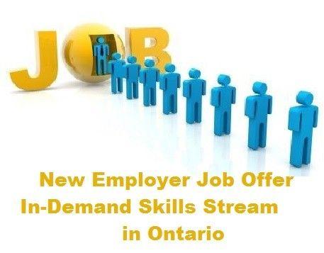 New Employer Job Offer In-Demand Skills Stream in Ontario