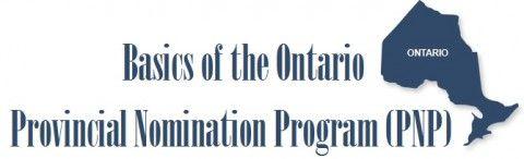 Basics of the Ontario Provincial Nomination Program (PNP)
