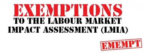 Exemptions to the Labour Market Impact Assessment (LMIA)
