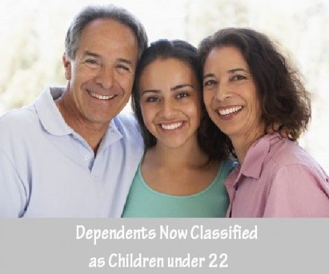 Dependents Now Classified as Children under 22