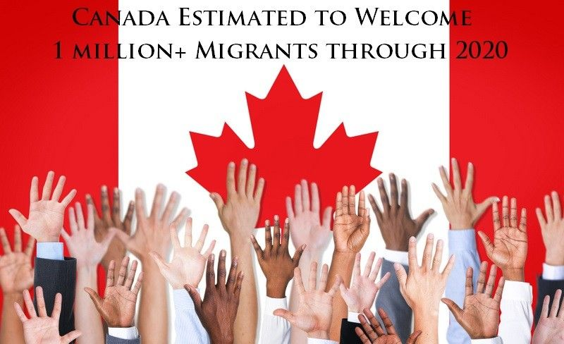 Canada Estimated to Welcome 1 million Migrants through 2020