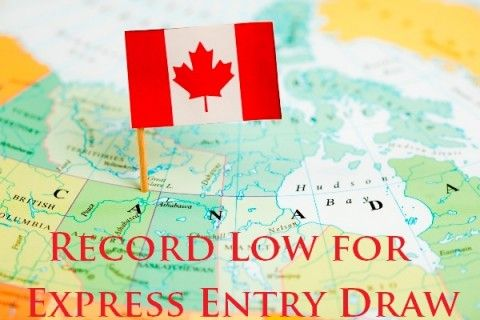 Record Low for Express Entry Draw
