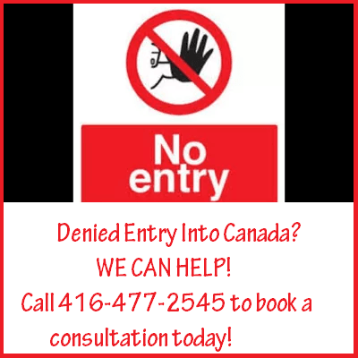 Denied Entry into Canada