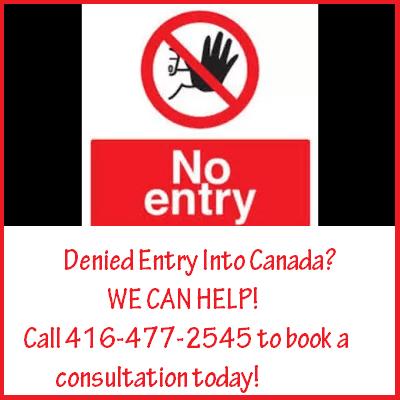 Denied Entry into Canada