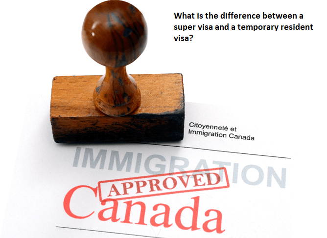 Comparing Super Visa and Temporary Resident Visa