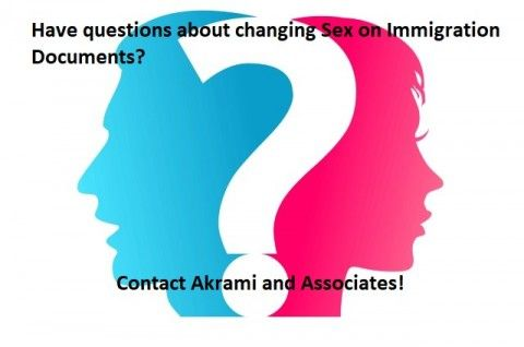 Changing Sex on Immigration Documents