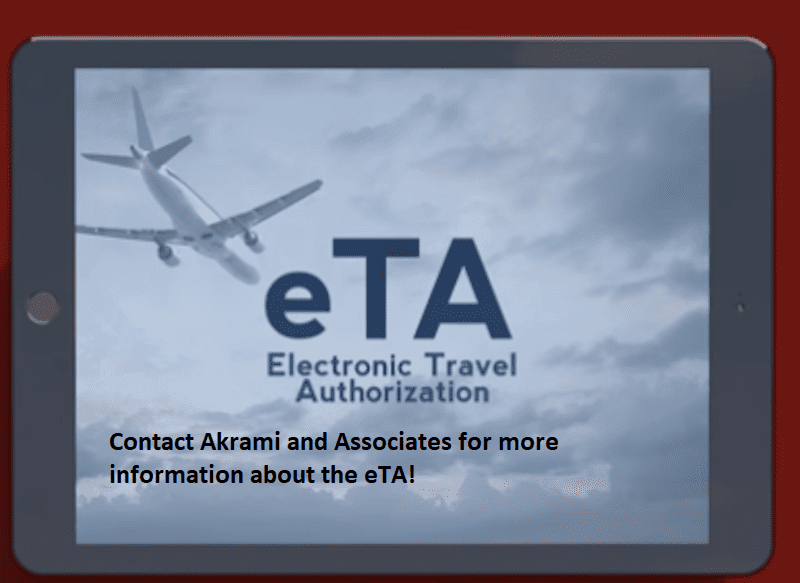 Traveling to Canada with an Electronic Travel Authorization (eTA)