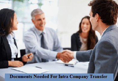 Documents needed for Intra Company Transfer
