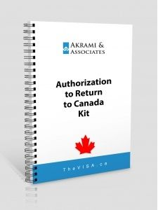 Authorization to Return to Canada Kit